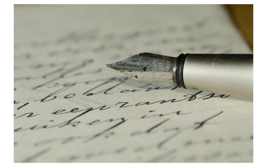 Et si on s'écrivait une lettre d'amour!