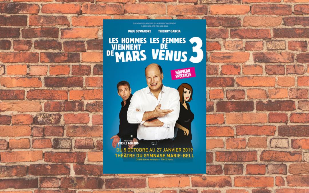 [Événement] Du rire au théâtre : Spectacle «Mars et Vénus 3»