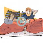 couple au lit avec leurs portables