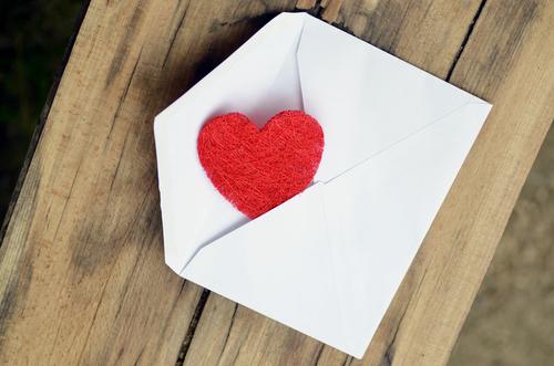 Lettre d'amour pour la saint valentin