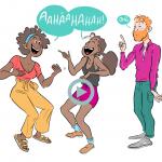 rire dans sa belle famille